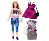 Barbie Кукла Барби в полосатой майке с набором одежды