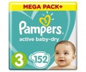 Pampers Подгузники Active Baby Dry Midi р.3 (4-9 кг) 150 шт.