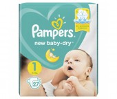 Pampers Подгузники New Baby Dry р.1 (2-5 кг) 27 шт.