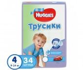 Huggies Подгузники Трусики для мальчиков 4 (9-14 кг) 34 шт.
