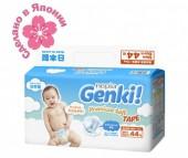 Genki Подгузники Nepia Premium Soft NB (0-5 кг) 44 шт.
