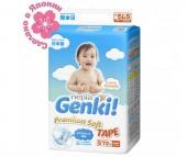 Genki Подгузники Nepia Premium Soft S (4-8 кг) 72 шт.