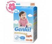 Genki Подгузники Nepia Premium Soft М (6-11 кг) 64 шт.