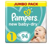 Pampers Подгузники Baby-Dry р.1 (2-5 кг) 94 шт.