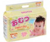 Omutsu Подгузники детские L (9-14 кг) 48 шт.