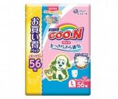 GooN Подгузники-трусики L (9-14 кг) для девочки 56 шт.