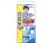 GooN Подгузники-трусики XXL (13-25 кг) для мальчиков 36 шт.