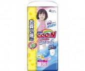 GooN Подгузники-трусики XXL (13-25 кг) для девочек 36 шт.