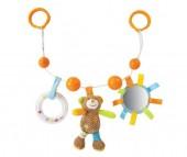 Жирафики Подвеска с погремушкой зеркальцем и мягкой игрушкой Мишка Вилли