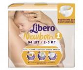 Libero Подгузники Newborn (2-5 кг) 94 шт.