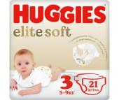 Huggies Подгузники Elite Soft 3 (5-9 кг) 21 шт.