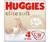 Huggies Подгузники Elite Soft 4 (8-14 кг) 19 шт.