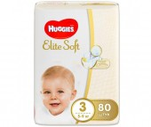 Huggies Подгузники Elite Soft Mega 3 (5-9 кг) 80 шт.