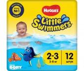 Huggies Подгузники для плавания 2-3 (3-8 кг) 12 шт.