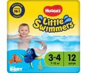 Huggies Трусики-подгузники для плавания 3-4 (7-15 кг) 12 шт.