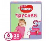Huggies Подгузники-трусики для девочек 6 (16-22 кг) 30 шт.
