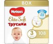 Huggies Подгузники-трусики Elite Soft 3 (6-11 кг) 108 шт.