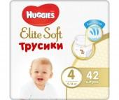 Huggies Подгузники-трусики Elite Soft 4 (9-14 кг) 42 шт.