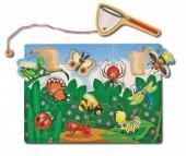 Деревянная игрушка Melissa & Doug Магнитная игра Ловля насекомых