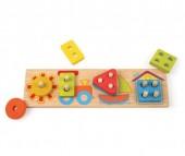 Деревянная игрушка Mapacha Вкладыши Лето