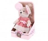 Мягкая игрушка Angel Collection Lady mouse Лакомка в коралловом платье (шарнирная)