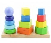 Деревянная игрушка Мир деревянных игрушек (МДИ) Пирамидки 3 в 1