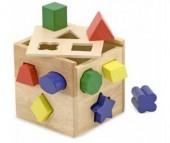 Деревянная игрушка Melissa & Doug Классические игрушки Сортировщик фигур Куб