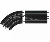 Carrera Дополнение к треку Поворот слева со сменой полосы с внешней на внутреннюю