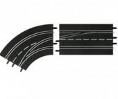 Carrera Дополнение к треку Поворот слева со сменой полосы с внутренней на внешнюю