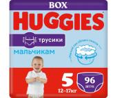 Huggies Подгузники-трусики для мальчиков 5 (13-17 кг) 96 шт.