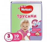 Huggies Подгузники-Трусики для девочек 3 (7-11 кг) 19 шт.