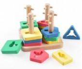 Деревянная игрушка Мир деревянных игрушек (МДИ) Логическай квадрат малый