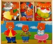 Деревянная игрушка Мир деревянных игрушек (МДИ) Три медведя Д164