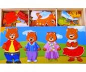 Деревянная игрушка Мир деревянных игрушек (МДИ) Четыре медведя