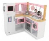 KidKraft Большая детская кухня из дерева для девочек Изысканный уголок