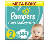 Pampers Подгузники New Baby-Dry Mini р.2 (3-6 кг) 144 шт.