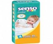 Senso Baby Подгузники Ecoline макси (7-18 кг) 40 шт.