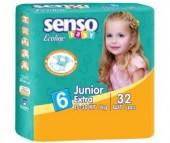 Senso Baby Подгузники Ecoline юниор-экстра (15-30 кг) 32 шт.