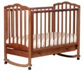 Детская кроватка Кубаньлесстрой АБ 19.1 Жасмин качалка с ящиком