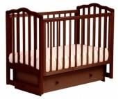 Детская кроватка Кубаньлесстрой АБ 19.2 Жасмин маятник поперечный с ящиком