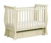 Детская кроватка Кубаньлесстрой АБ 21.3 Лаванда маятник продольный с ящиком
