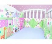 Бортик в кроватку Лапуляндия Бортики-домики для девочки 120х60