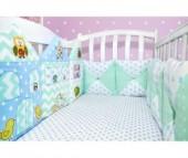 Бортик в кроватку Лапуляндия Бортики-домики для мальчика 120х60
