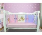 Комплект в кроватку Лапуляндия для девочки ЛДР057 120х60 (8 предметов)