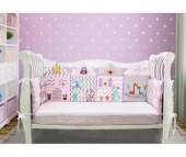 Комплект в кроватку Лапуляндия для девочки 120х60 (8 предметов)