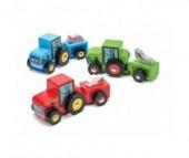 Деревянная игрушка LeToyVan Трактор с прицепом