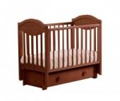 Детская кроватка Кубаньлесстрой АБ 23.3 Камелия маятник продольный с ящиком