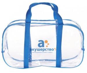 Прозрачная сумка в роддом – купить сумку без набора (пустую) в ... 84e0ee8b57d