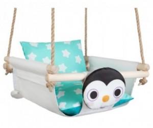 Качели Hotenok подвесные с подушками Пингвин