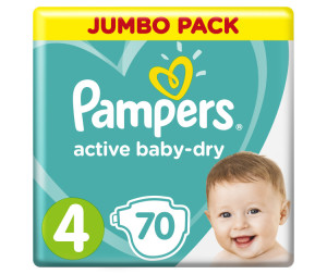 Pampers Подгузники Active Baby Dry Maxi р.4 (8-14 кг) 70 шт.
